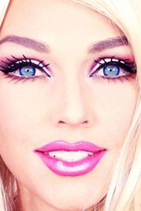Barbie Makeup Tutorial - Barbie Makeup For Halloween Costume 2015