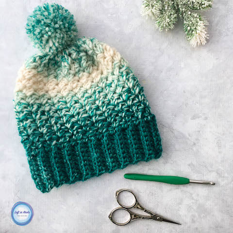 Crochet Snowball Slouch Hat - Free One Skein Pattern u2014 Left in Knots