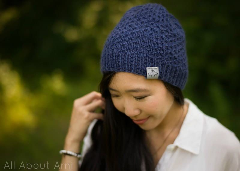 The Dotty Beanie Knit Pattern - All About Ami