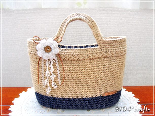 麻ひものトートバッグ | Purses, & Totes n crochet | Pinterest