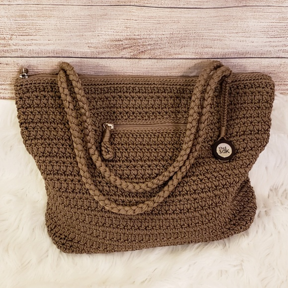 The Sak Bags | Crochet Handbag Beautiful Brown Tote Bag | Poshmark