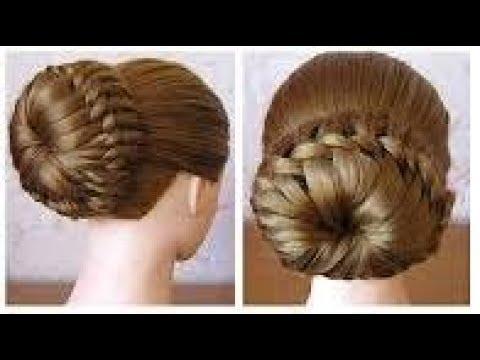 Beautiful hair bun for girls _ stylish hair style for fashionable