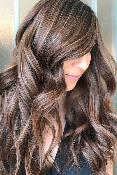Trendy Hair Color Ideas 2017/ 2018 : brunette with blonde highlights