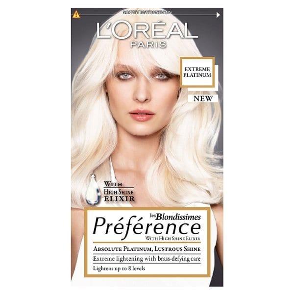 Preference Platinum Extreme Platinum Blonde Hair Dye | Superdrug