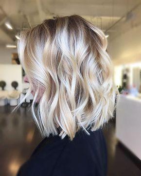 18 Short Wavy Blonde Hairstyles 2017 - 2018