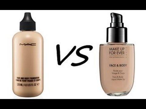Face & Body MAC VS Face & Body MUFE - YouTube