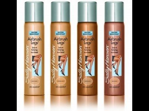 Body makeup??? Sally Hansen Air Brush Legs Product Review - YouTube