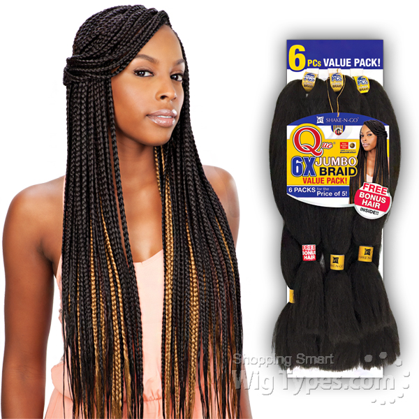 Freetress Synthetic Braid - QUE 6X KING JUMBO BRAID (6 Pack For The