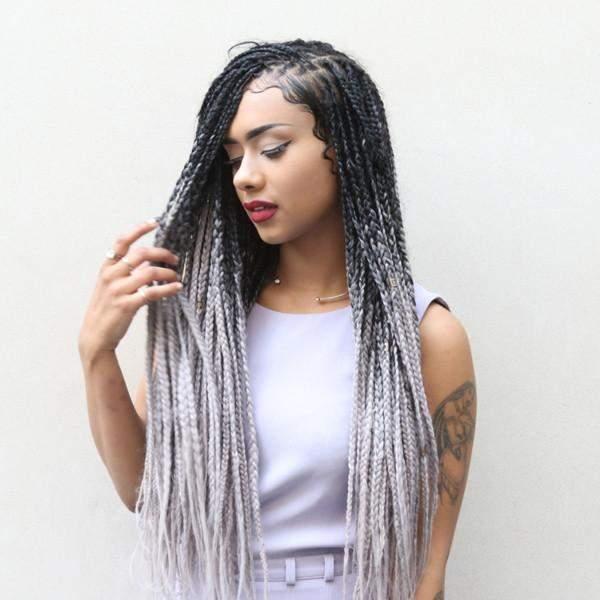 CATFACE HAIR BLACK GREY OMBRE JUMBO BRAIDING HAIR u2013 Catface Hair