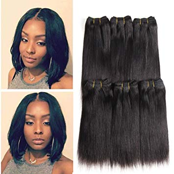 Amazon.com : Brazilian Hair Straight 6pcs /lot 100% Raw Unprocessed