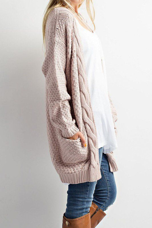 Cozy Cable Knit Cardigan Sweater | My Style | Pinterest | Sweaters