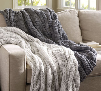 Szplh Hand Knit Chunky Cable Knit Throw Blanket For Sofa - Buy Knit