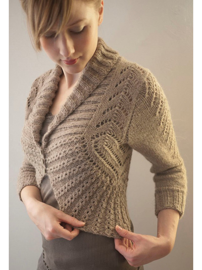 Lace Knitting Patterns - Georgina Cardigan Knit Pattern