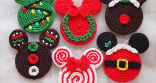 Mickey&Minnie Mouse Christmas crochet pattern, Christmas Ornament,  Christmas wreath, xmas tree, Gingerbread, Santa Claus, lollipop, Rudolph