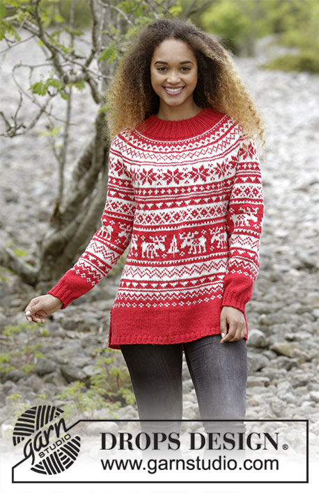 Season Greetings Free Christmas Sweater Knitting Pattern ⋆ Knitting Bee