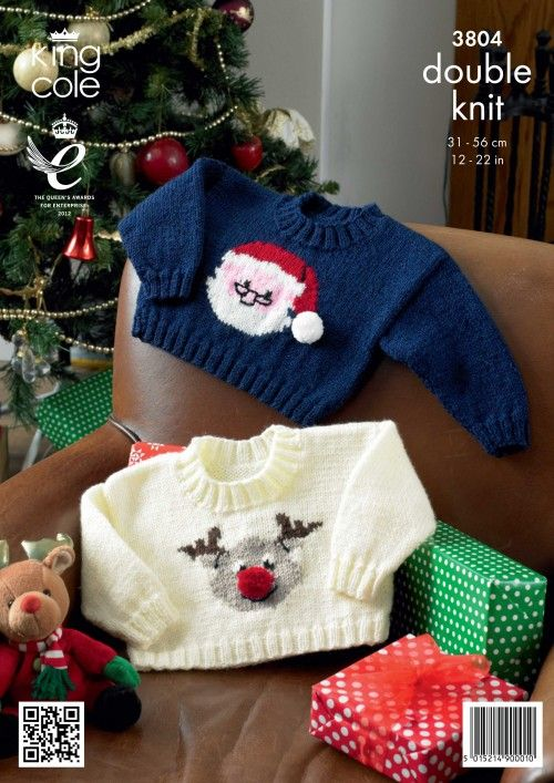 Childrens, Babies/ Toddlers Knitted Christmas jumper pattern Knitted