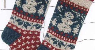 Snowman Christmas Stocking Knitting Pattern
