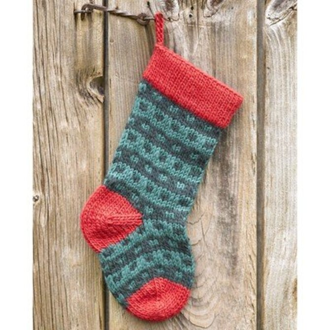Valley Yarns 283 Spotted Christmas Stocking (Free) at WEBS | Yarn.com