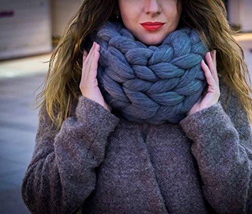 Amazon.com: Chunky scarf Giant knit scarf Big yarn Infinity scarf