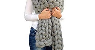 Amazon.com: Chunky Knitted Scarf, Giant Extreme Infinity Chain Scarf