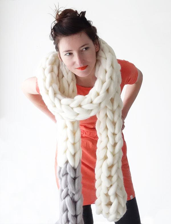 Chunky Knit Scarf u2013 Panapufa