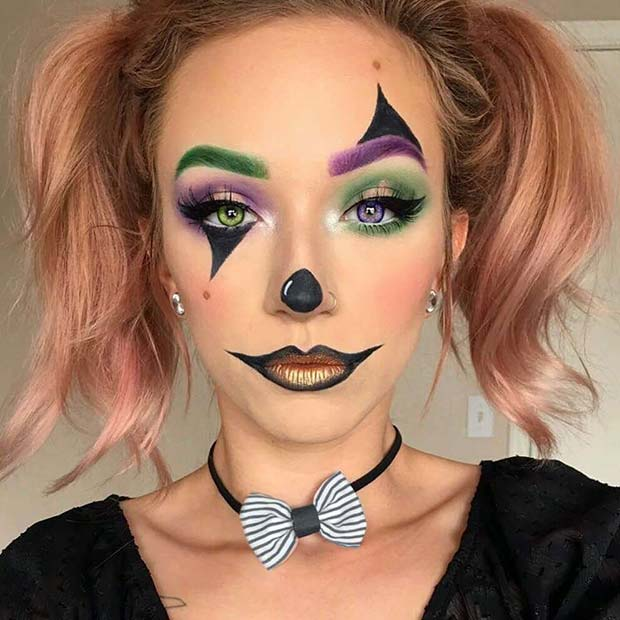 23 Trendy Clown Makeup Ideas for Halloween 2018 | Page 2 of 2 | StayGlam