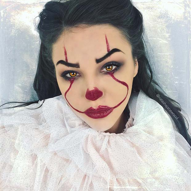 23 Trendy Clown Makeup Ideas for Halloween 2018 | StayGlam