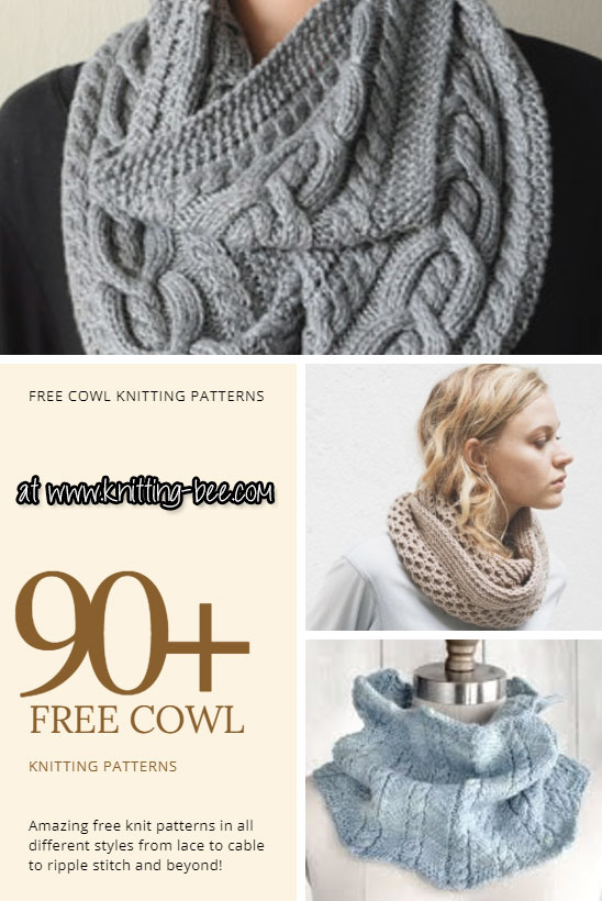90+ Free Cowl Knitting Patterns You'll Love to Knit Up! (134 free
