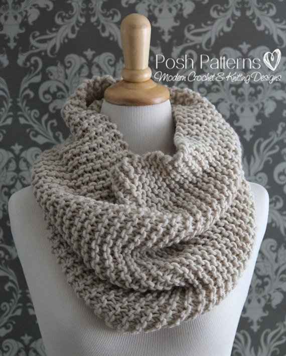 Knitting PATTERN Knit Cowl Pattern Cowl Knitting Pattern | Etsy