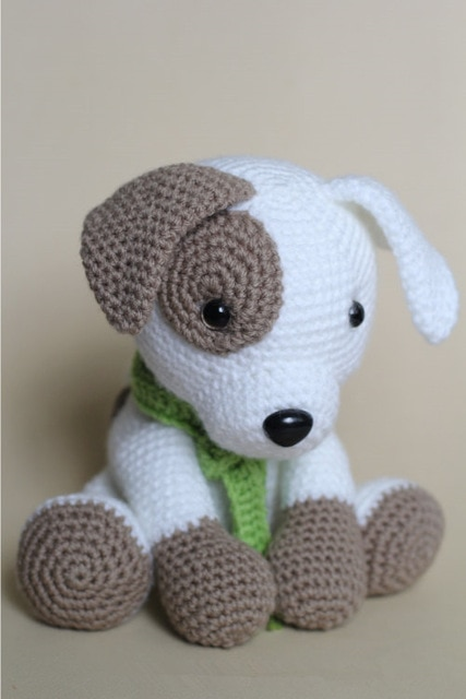 crochet baby Amigurumi dog rattle toy baby gift Amigurumi animals