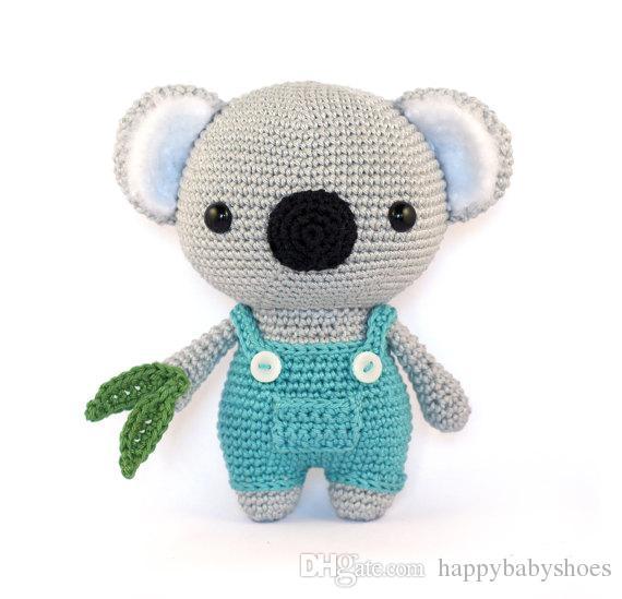 2019 Cute Koala Amigurumi Crochet Rattle Toy Crochet Knitted Stuffed