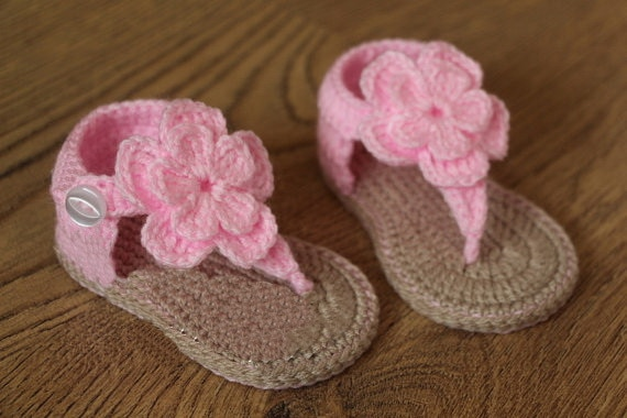 Free shipping,Crochet baby sandals, baby gladiator sandals,baby