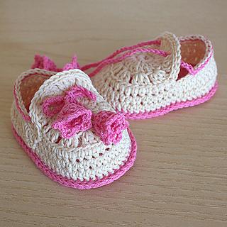 Ravelry: Crochet Baby Shoes Summer Bells pattern by Julia Noskova