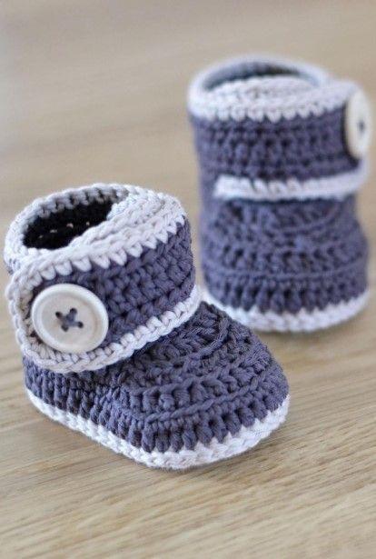 Patterns for Crochet Baby Booties | Crochet | Crochet baby, Crochet