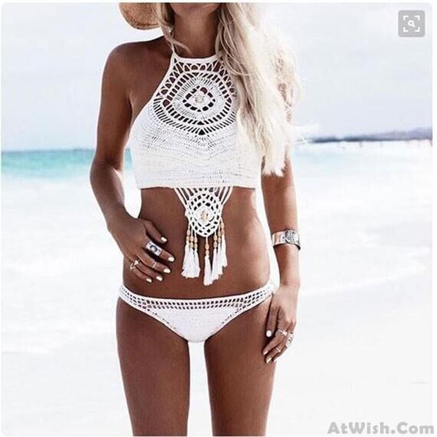 Handmade Crochet Swimsuit Sexy Bikini Swimwear Bathingsuit | Bikinis