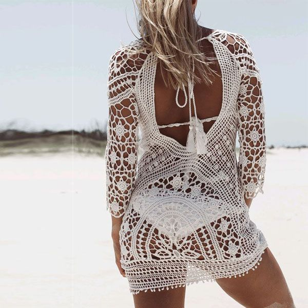 Christal Crochet Beach Dress - The Wild Flower Shop