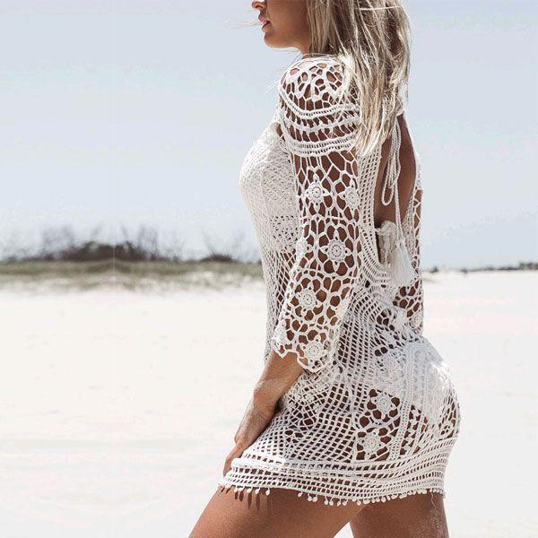 Christal Crochet Beach Dress - The Wild Flower Shop