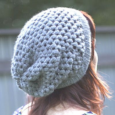 Beginners Luck ~ Puff Stitch Slouchy Beanie Pattern | Cute | Crochet