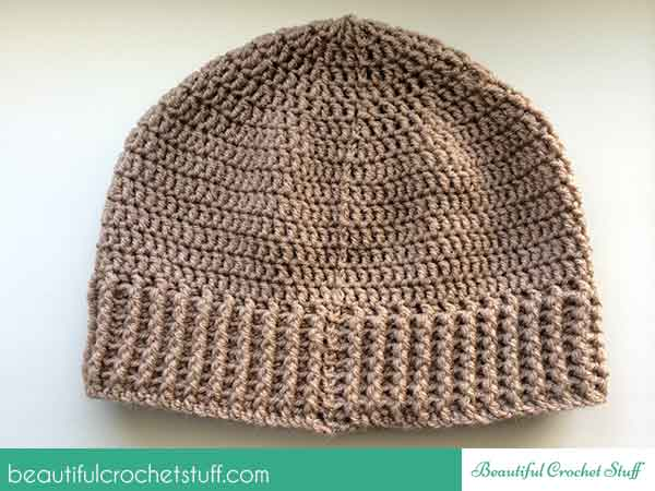 How to crochet a beanie (hat) + free pattern | Beautiful Crochet Stuff