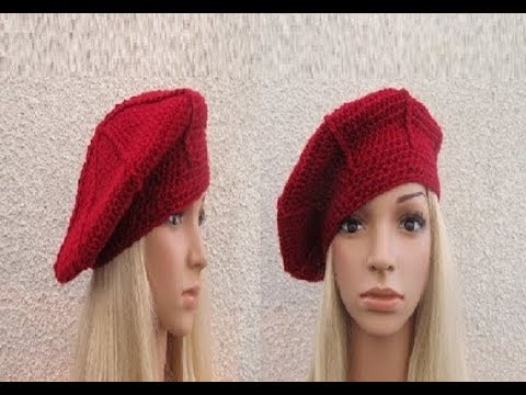 How to Crochet a Beret Hat Pattern #57│by ThePatternFamily - YouTube