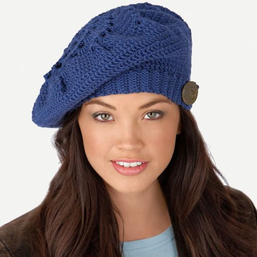 Crochet Beret Free Pattern | HATS & SCARVES FREE PATTERNS