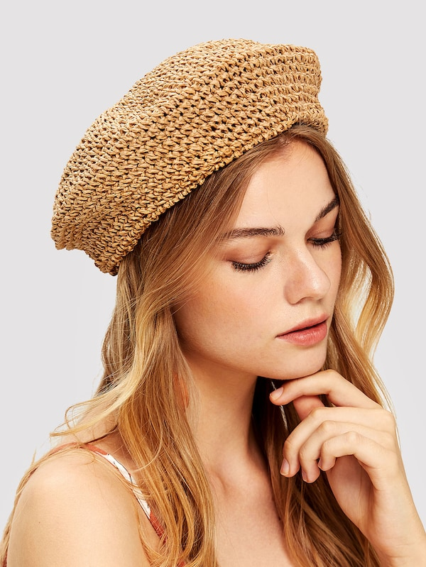 Crochet Beret Cap | SHEIN