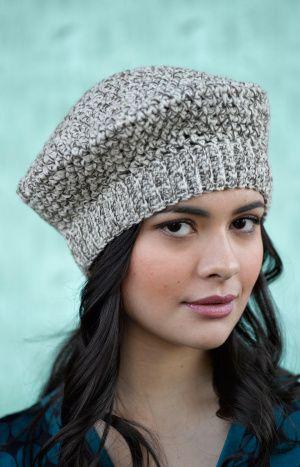 Tivoli Beret- free pattern from Lion Brand | Crochet Pattern Faves