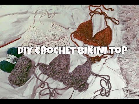 DIY CROCHET BIKINI TOP TUTORIAL - YouTube