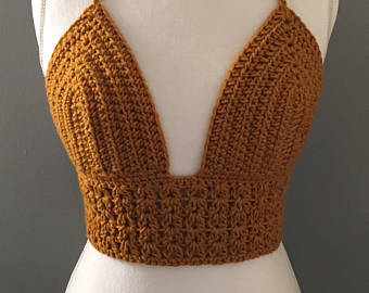 Crochet bikini top | Etsy