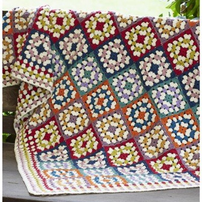 Rowan Granny Square Crochet Blanket (Free) at WEBS | Yarn.com