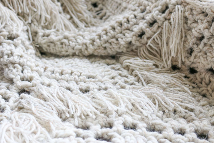 Sedona Fringed Crochet Throw - Free Pattern from Make & Do Crew