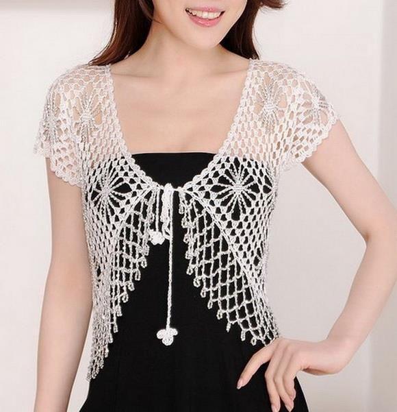 Crochet Sweaters: Free Crochet Bolero Pattern - Crochet With Crystal