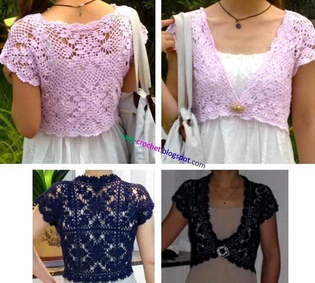 Various Styles Of Crochet Bolero Pattern Fashionarrow Com
