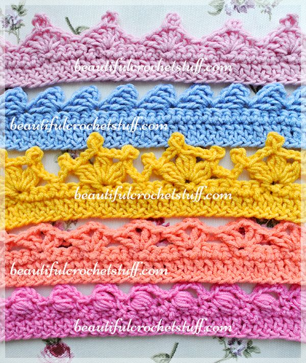 VARIOUS CROCHET BORDERS